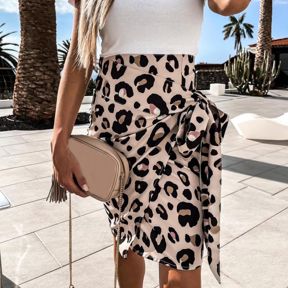 Женская юбка с завышенной талией, повседневная облегающая мини-юбка в стиле бохо с цветочным принтом, короткая облегающая юбка неправильно...