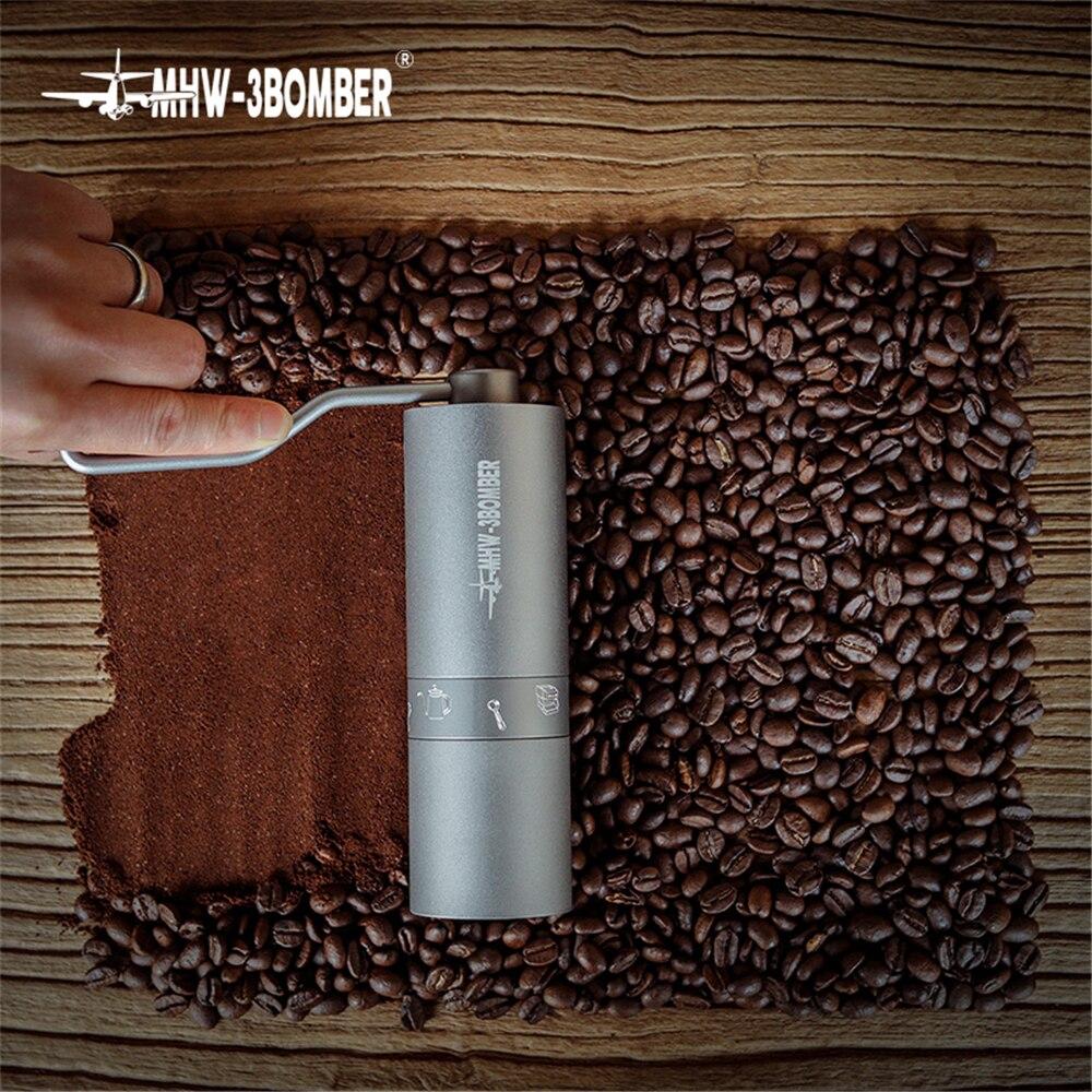 مطحنة قهوة يدوية عالية الجودة ، مطحنة قهوة محمولة من الألومنيوم ، آلة طحن صغيرة ، ملحق مطبخ
