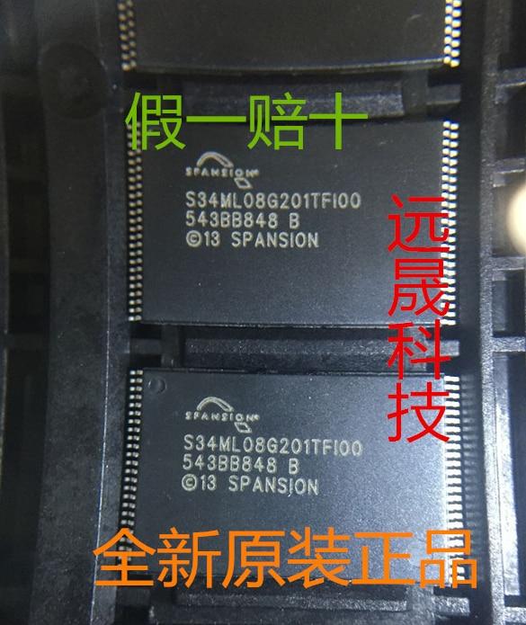 Mxy جديد الأصلي S34ML08G201TFI00 8GB TSOP-48 ذاكرة رقاقة S34ML08G201TF100