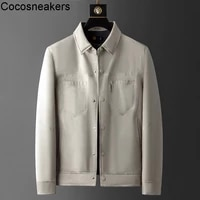 light luxury and cold proof products light and warm white duck down business leisure simple slim fit mens lapel short down