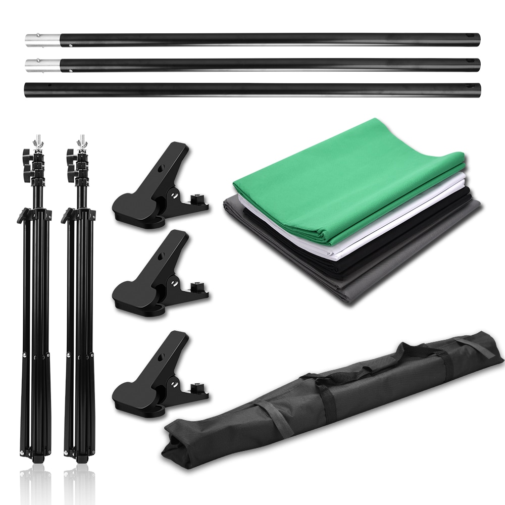 Photo Studio Portable Backdrop Stand Kit 2x2m Background Support System White Black Green Screen Chroma key Photography Backdrop enlarge