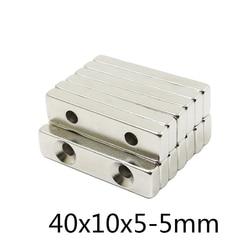 5/10/30pcs forte quadrate diy poderoso pequeno ímãs 40x10x5-5mm ndfeb ímãs 40x10x5-5mm
