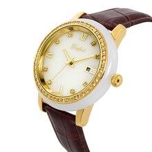 Montres à Quartz pour hommes de montre de Jade blanc naturel Direct dusine étanche et affichage de calendrier avec emballage de boîte-cadeau haut de gamme