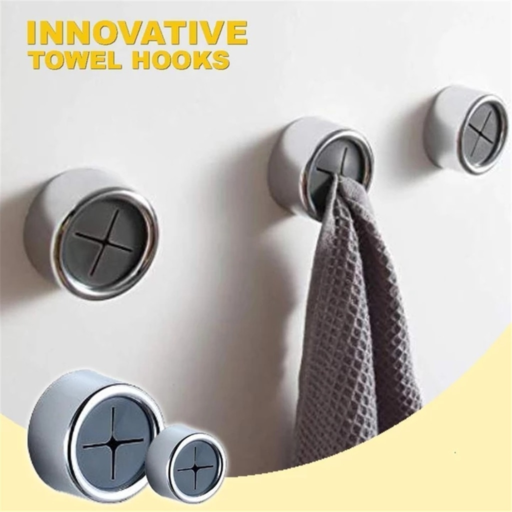 Toalla insuperable sin gancho creativo gancho conjunto gancho de perforación libre cocina baño puerta accesorios para el hogar acroche torchon mural