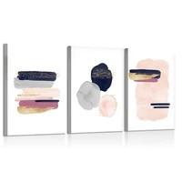 Affiche murale avec impression aquarelle minimaliste  couleur or  rose  marine  Art moderne