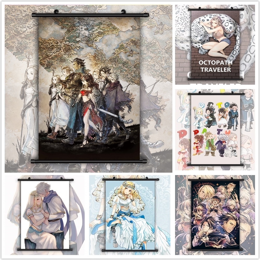Cartel de la pared de la manga del Anime del viajero Octopath