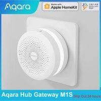 Aqara     Hub Gateway M1S avec veilleuse RGB Zigbee 2021  dispositif de securite pour maison connectee  fonctionne avec application Mijia et Apple HomeKit  3 0