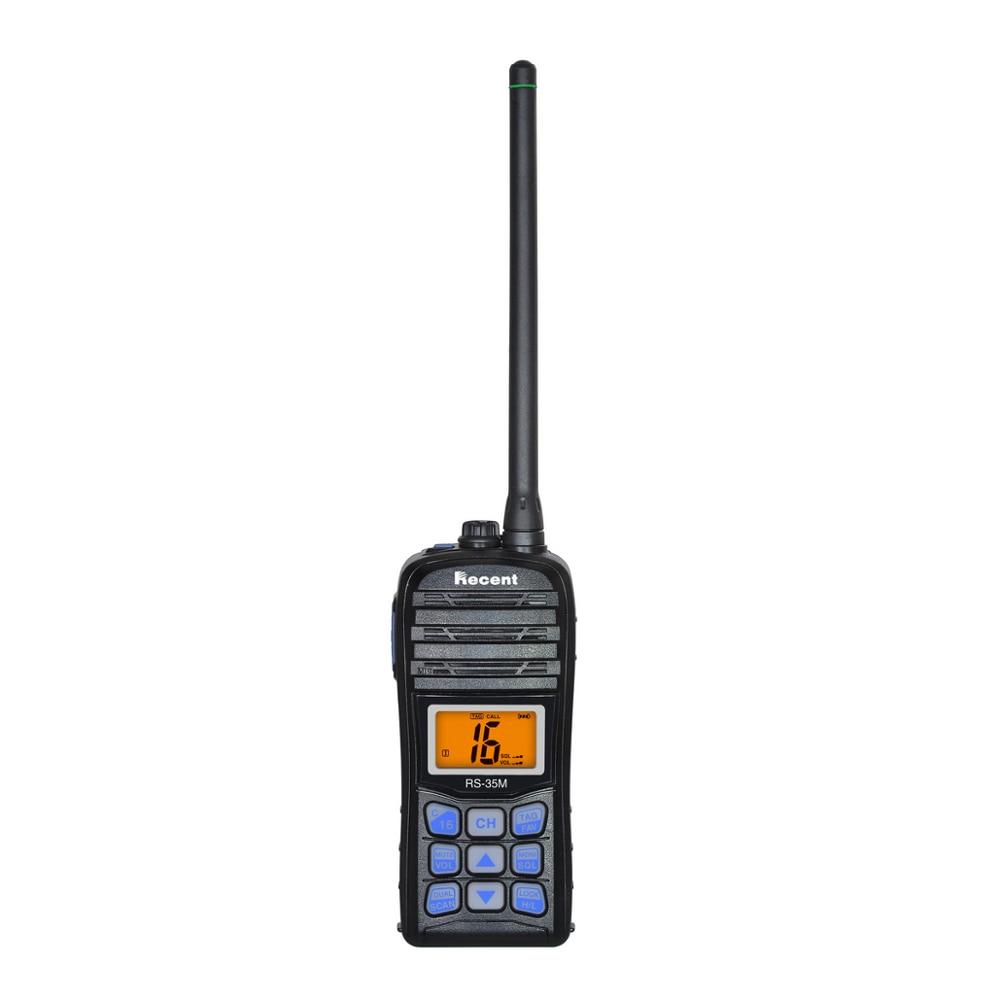 Marine VHF Radio Walkie Talkies RS-35M WaterProof IP67 interphone Handheld emergency Transceiver transmitter