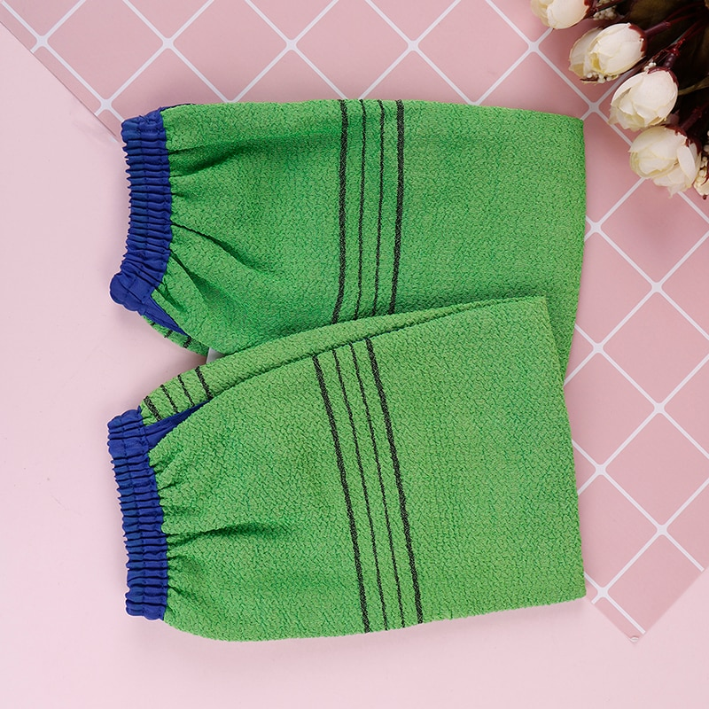1pc Shower Spa Exfoliator Two-sided Bath Glove Body Cleaning Scrub Mitt Rub Dead Skin Removal