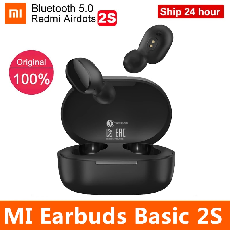 Original Xiaomi Global Version Earbuds basic 2S Bluetooth 5.0 touch control mi true TWS earbuds gami