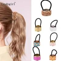 woman scrunchy punk ponytail holder plastic crystal gum for hair ring elastic hair band simple hair accessories