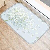 40x60cm cute diy print floor mat bathroom ground mat slip door bath pad rug living room carpet flower