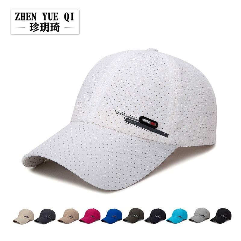 Zhenyueqi verão novo estilo respirável perfurado su gan mao masculino pesca sol-resistente boné de beisebol equitação viagem esportes boné