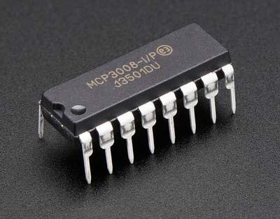 10 قطعة/الوحدة MCP3008-I/P MCP3008 DIP-16 في الأسهم