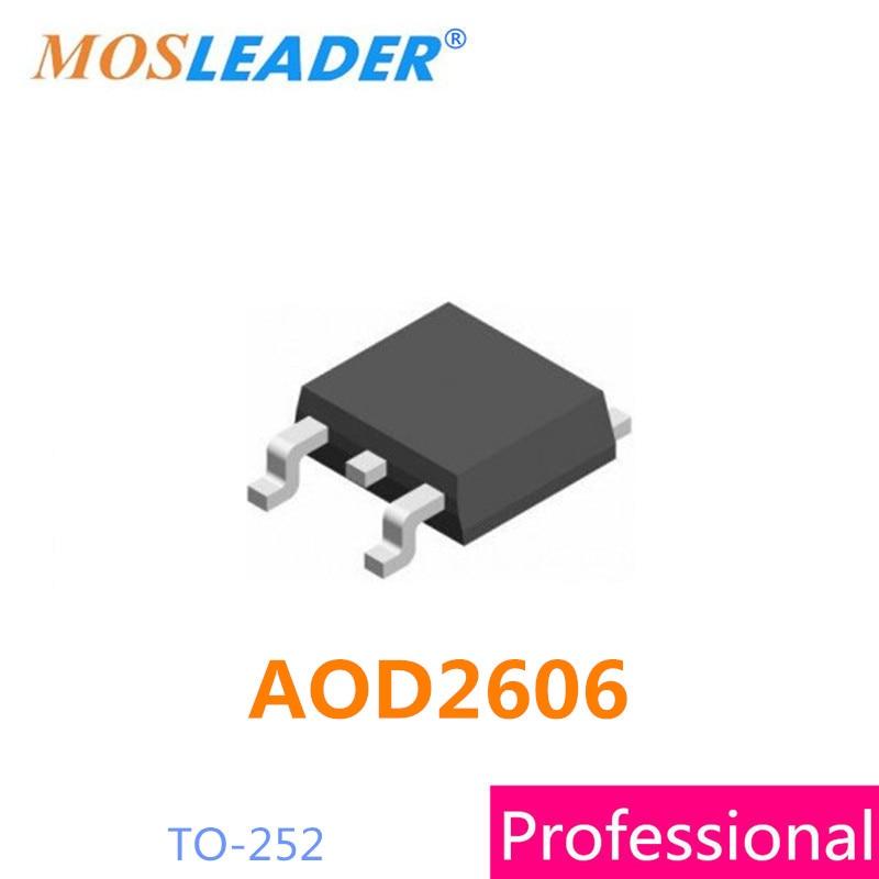 Mosleader AOD2606 TO252 100 قطعة DPAK 60 فولت 46A 15mR 8mR N-قناة صنع في الصين جودة عالية