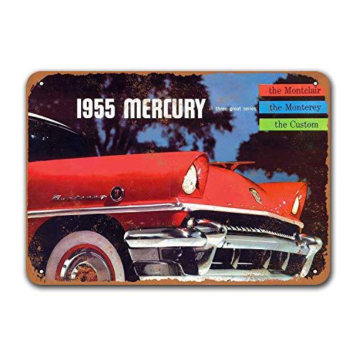 Постер для бара, общежитие, винтажные автомобильные жестяные знаки, металлический Ресторан Настенный декор для офиса 1955 Mercury, автомобили, па...