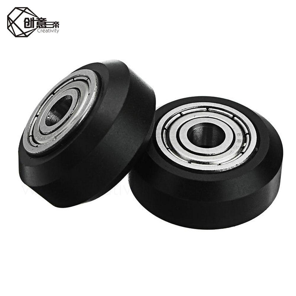 10 Uds CNC Open builds rueda de plástico pom con 625zz idler polea engranaje pasivo rueda redonda perlin rueda para Ender 3 CR10 CR-10S