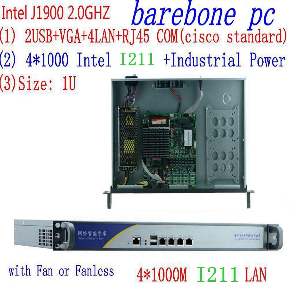 Фото - 1U j1900 межсетевой маршрутизатор pfsense маршрутизатор сервер/межсетевой сервер с J1900 2,0 ГГц 4 * I211 1000 Мбит/с Lans 4 lan сервер