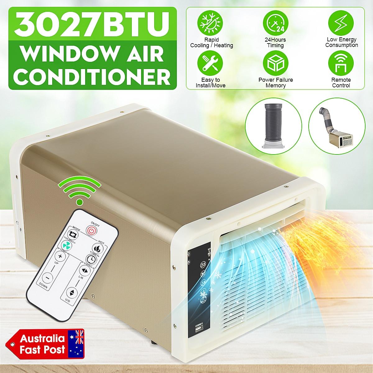 مكيف هواء صغير لسطح المكتب 220 فولت/تيار متردد بارد/حرارة سخان المنزل برودة الموقت + التحكم عن بعد LED لوحة التحكم الحيوانات الأليفة مكيف الهواء