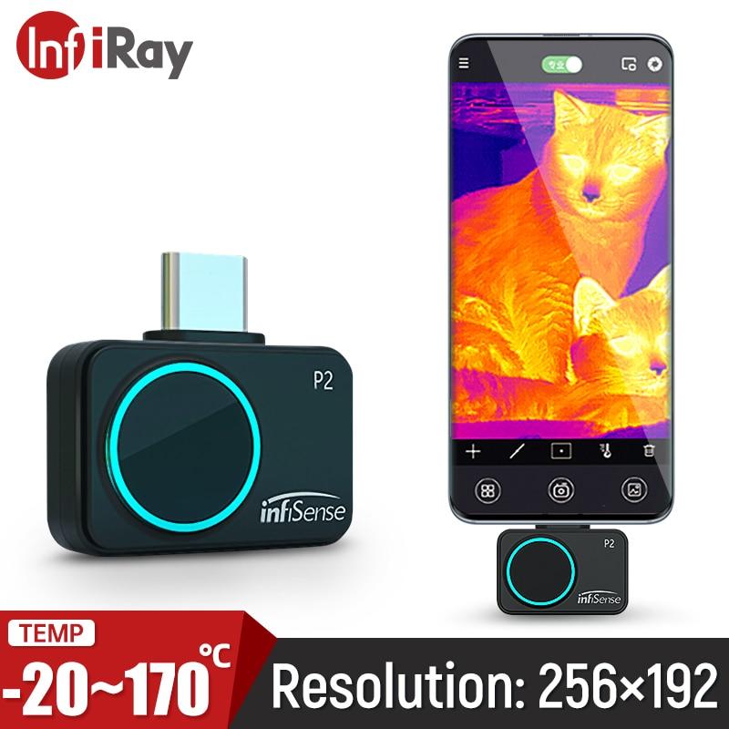 Infiray P2 Infrarood Imaging Camera Mini Industriële Inspectie Mobiele Telefoon Outdoor Observatie Warmtebeeldcamera Camera 256X192