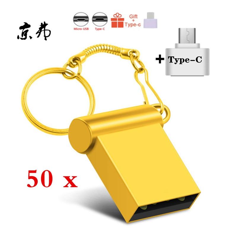 50pcs флешка Waterproof Silver Usb Flash Drive 32GB 16GB 8G 4G Pen Drive 128mb 256mb 512mb Pendrive U Disk Memoria Cel Usb Stick