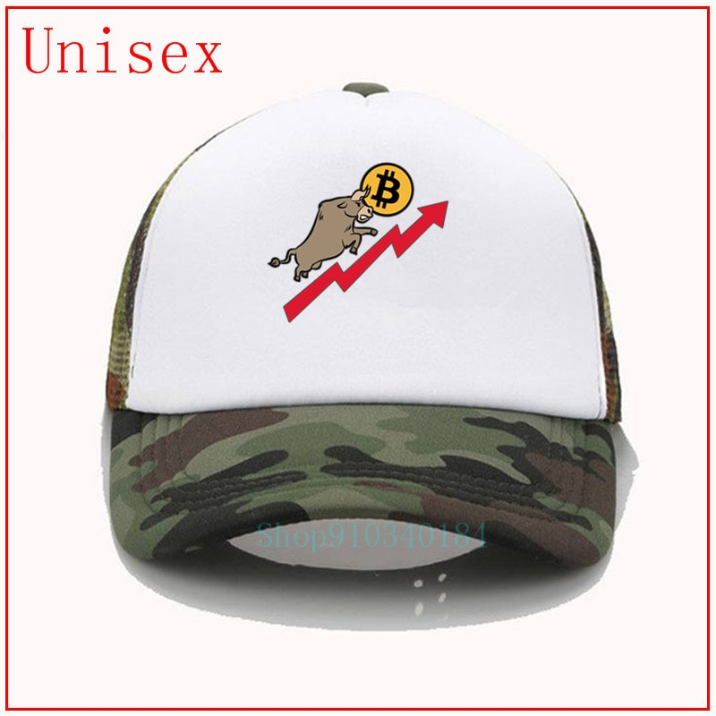 BITCOIN y BULL STOCK mercado Bullish BTC mujeres gorra de béisbol gorra de camionero gorras para hombre gorras y sombreros snapback cap