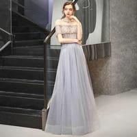sexy evening dresses dubai blue wine red o neck diamond sequins short sleeves a line formal dress