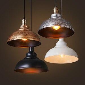 Креативные светодиодсветодиодный подвесные светильники из кованого железа в стиле ретро, промышленный стиль, подвесная лампа для ресторана, магазина, кафе, горячего горшка, магазина, бара