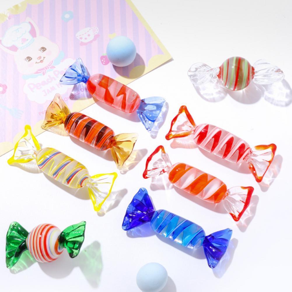 Изысканные стеклянные конфеты, высокая имитация, сувениры для вечеринок, красочные конфеты, украшение, настольное украшение для магазина, к... сменные сувениры цельные конфеты для мужчин