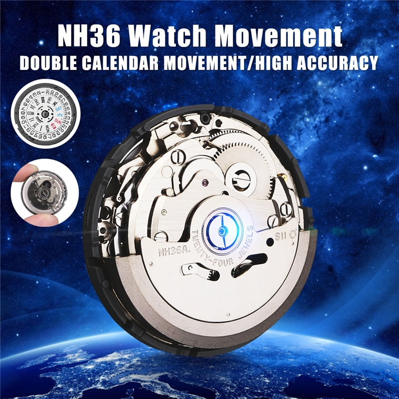 Automatic Watch Movement Mens Parts Mechanical Watch Movement NH36 Movement Watch Replace Accessorie