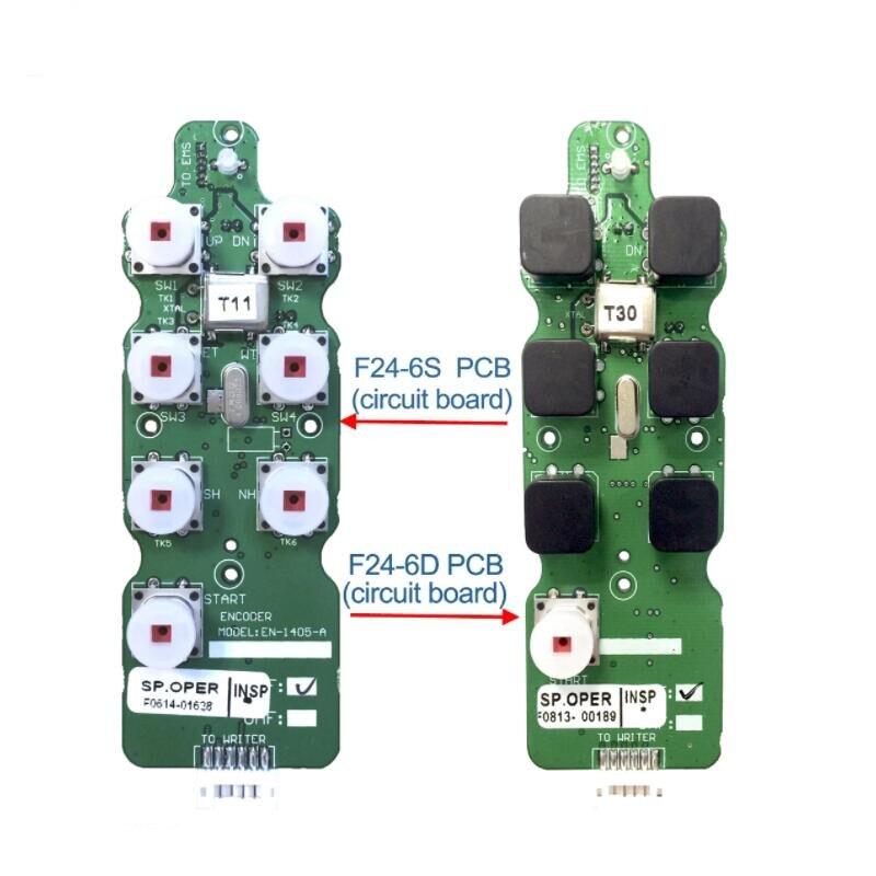 UTING تليكونترول F24-6S F24-6D الارسال باعث ثنائي الفينيل متعدد الكلور لوحة دوائر كهربائية الصناعية 6 مفاتيح رافعة لاسلكية للتحكم عن بعد تيليكران