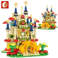 sembo 642pcs girls princess gorgeous castle building blocks compatible with friends toys for children christmas birthday gifts