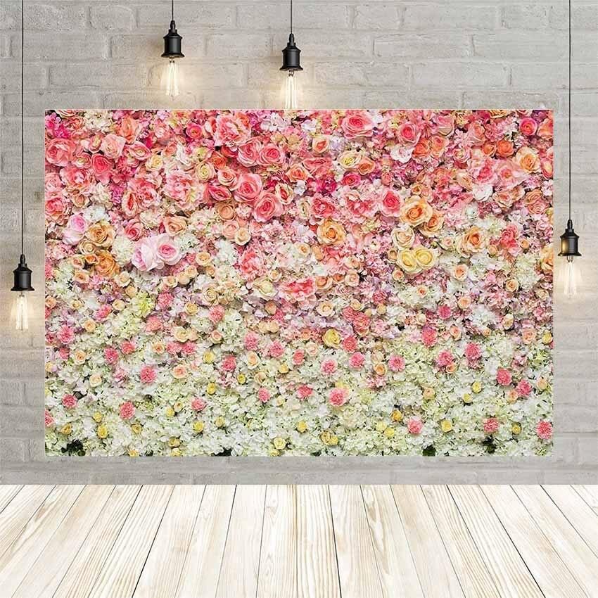 Avezano boda día fiesta Banner Rosa primavera decoración papel tapiz fotografía Fondo fondos de ducha para estudio fotográfico