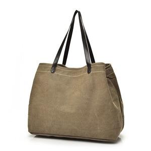 Female Shoulder Bag Casual Women Canvas Handbag High Quality Wear-resistant Big Tote Messenger Bags