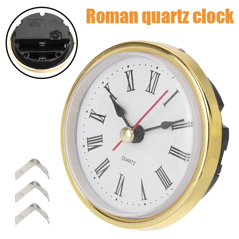 Promotion 65mm Clock Craft Quartz Movement Head Insert Roman Numeral Round Clocks Iron Clock Accessories