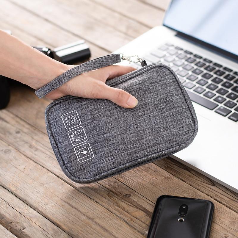 Cable Organizer Bag Gadget Organizer Cable Case Portable Travel Electronic Accessories Storage Bag C