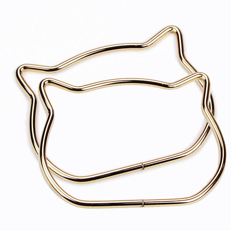 металл сумка ручка женщины сумочка кошелек рамка кошка ухо металл женщины аксессуары для сумки замена для DIY плечо сумки сумка ручка