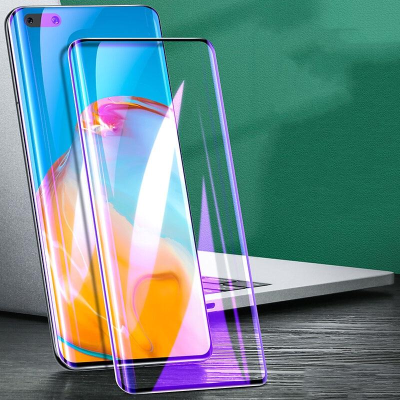 3D אנטי כחול מעוקל מזג זכוכית עבור Huawei P40 פרו בתוספת P40PRO + מסך מגן עבור Huawei P30 פרו 9H מגן סרט