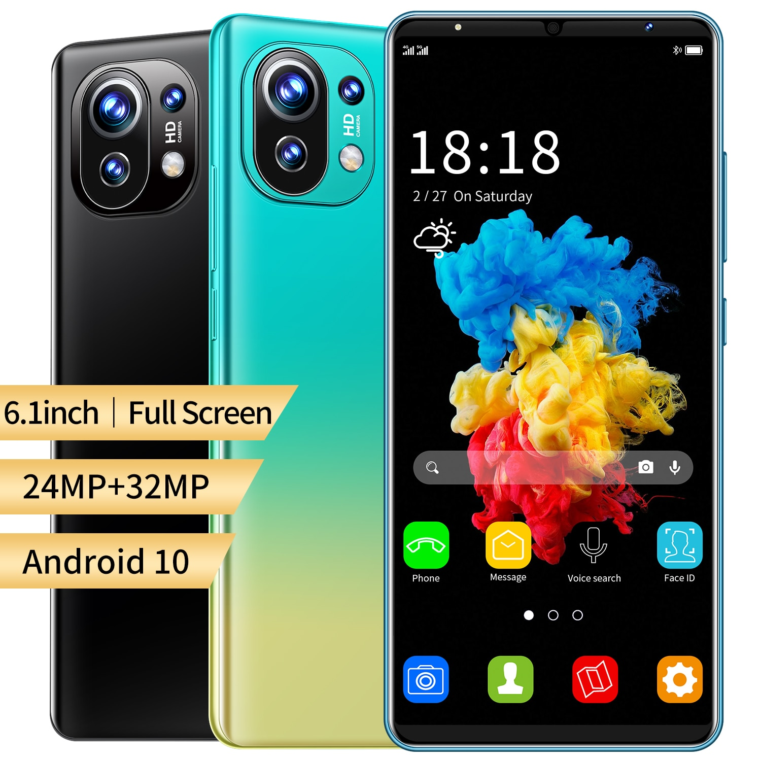 2021 New Arrival M11 Cheap Smart Phone 6GB RAM 128GB ROM 6.1 Inch 1440*3200 Dual SIM 10 Core MTK6889