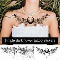 sternum temporary tattoo sticker under boob tattoo henna lace mandala tatoo fake large sexy breast tatto decal arabic design