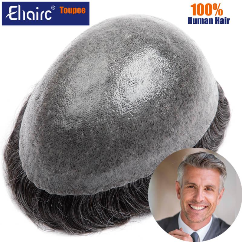 Men Hair Toupee 0.12mm Full Skin System Unit Men's Wigs Durable Capillary Male Hair Prosthesis 130% Density Toupee Wig For Men