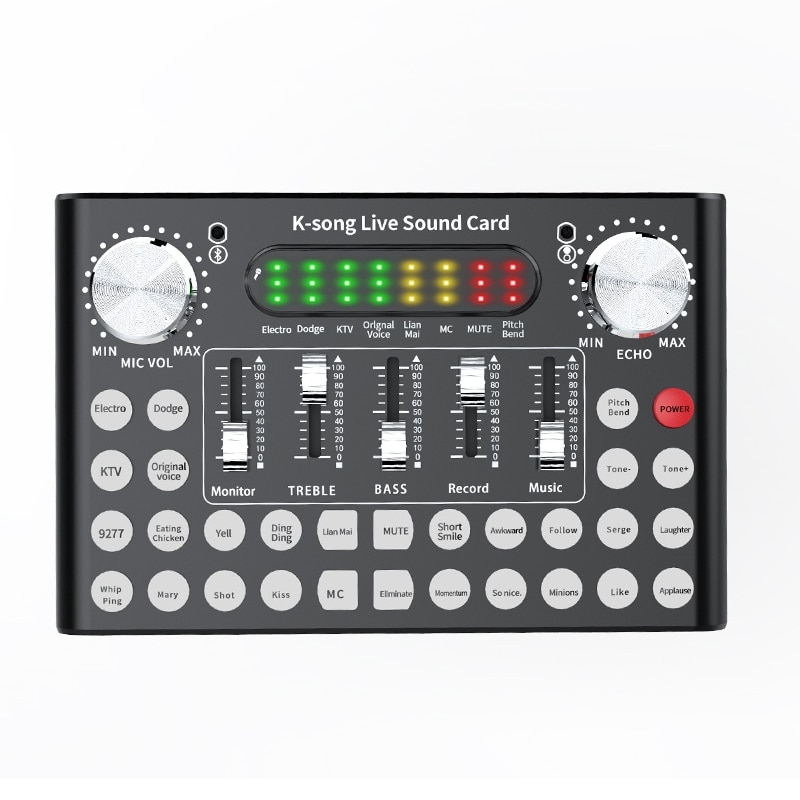 Professional Mixer DJ Live Equipment Sound Card Microphone Set Perfect for YouTube/Video Conference/Gaming/Zoom/Skype