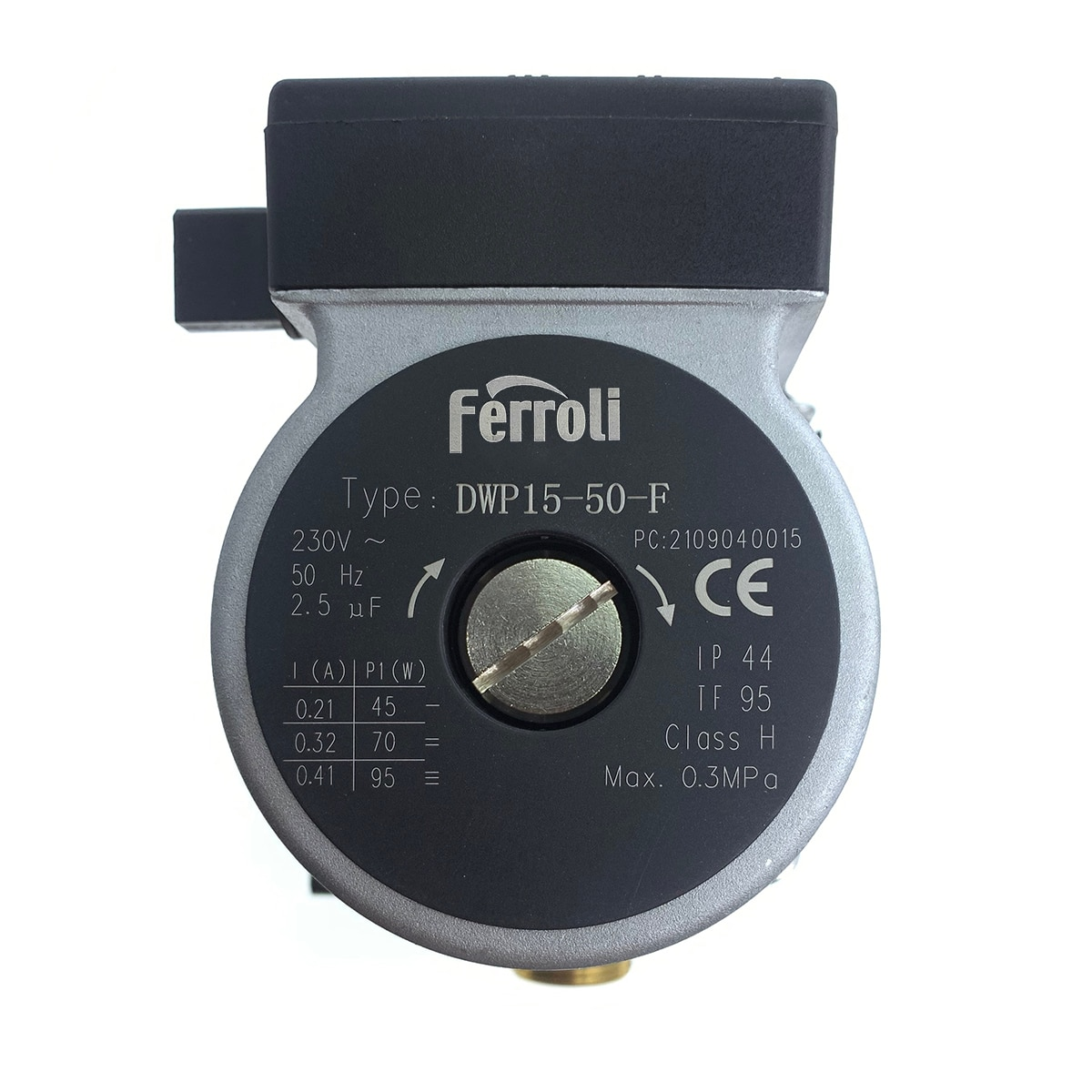 Ferroli DWP15-50-F 36600160 / 46660270 Boiler Water Circulation Pump for Fortuna & Diva Compatible with FRSL15/4.1 HE-3 KU C