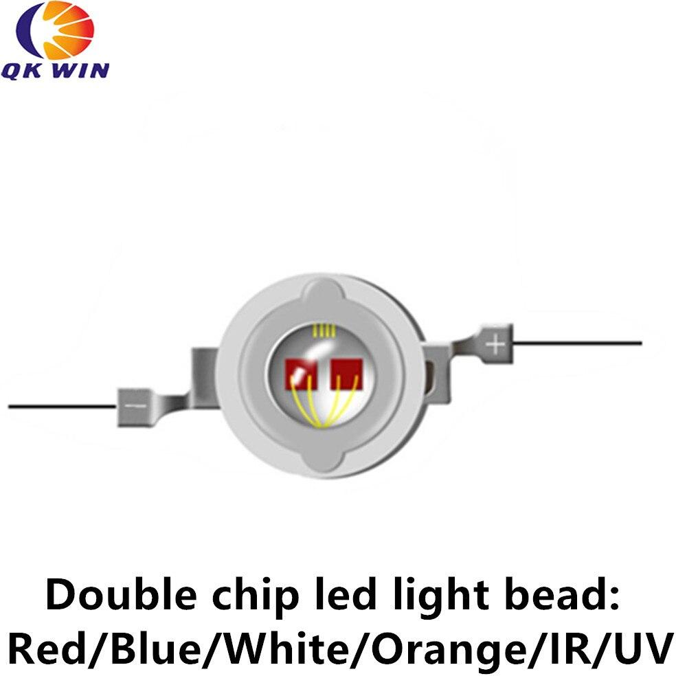 Cuentas Led 10W azul 460nm rojo 630nm para lámparas led/bombillas led azules bueno para plantas Led lámparas de cultivo escenario de vegetales