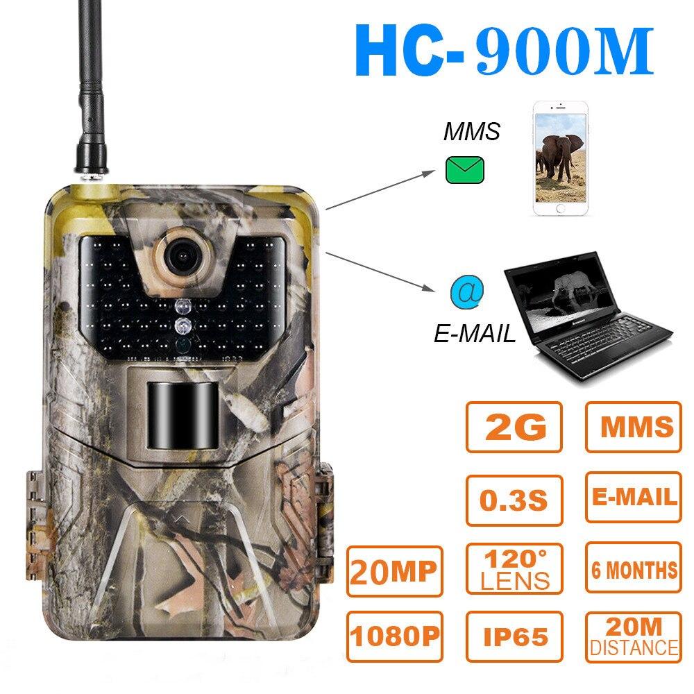 20MP 1080P 2G SMS MMS SMTP Wildlife Trail Kamera Foto Fallen Nachtsicht E-mail Cellular Jagd outdoor Kamera überwachung