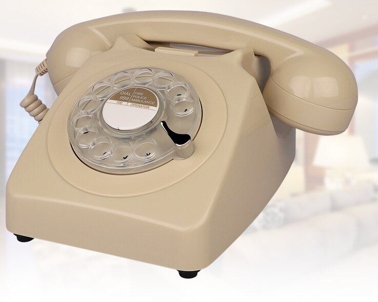 Corded Antique Telephone  for Eldly Vintage Retro Rotary Dial Home Phones Popular European Telephone