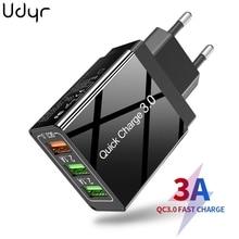 Udyr 30W charge rapide 3.0 USB chargeur pour iPhone Samsung Huawei Xiaomi chargeur rapide QC3.0 ue royaume-uni mur téléphone portable chargeur adapte