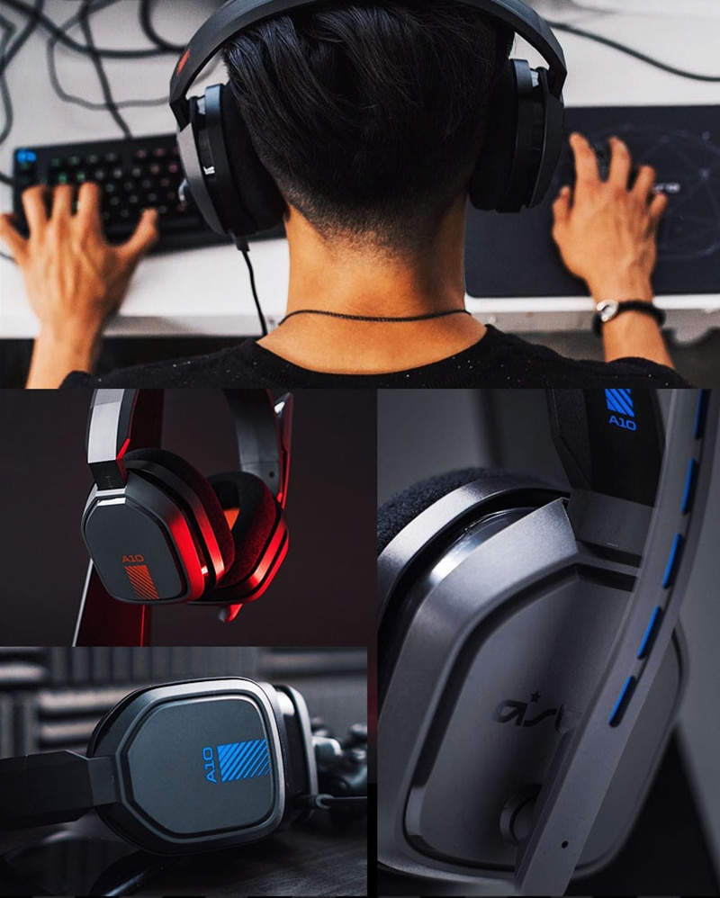 Logitech ASTRO A10 Over-Ear Gaming Headphones Wired Headset Noise Cancellation For PlayStation 4/PS4/Xbox/One/PC/Mac/Switch enlarge