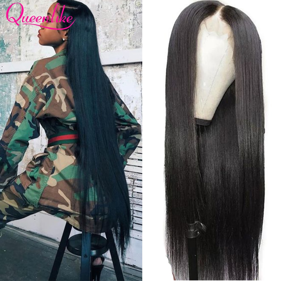 13x6 Lace Front Human Hair Wigs For Black Women Cheap Straight Lace Frontal Wig 5X5 4x4 Closure Wig PrePlucked Wig Natural Hair