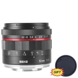 Mk 50mm f/1.7 lente de foco manual de abertura grande para câmeras sem espelho fuji x-mount X-E3/X-T2/X-T3/xt20 com armação completa/APS-C